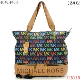Michael Kors HandBags Black Colorful MK/Pink