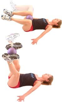 Lying Ball Squeeze Exercises