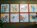 "8 for BAVH - 8: 22"" x 22"" Watercolors of Animals that I have seen Dr. Huckaby treat"