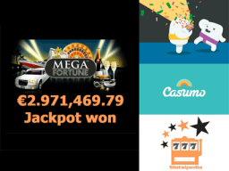 Slots newbie wins almost 3 Million Euros Jackpot on Mega Fortune at Casumo