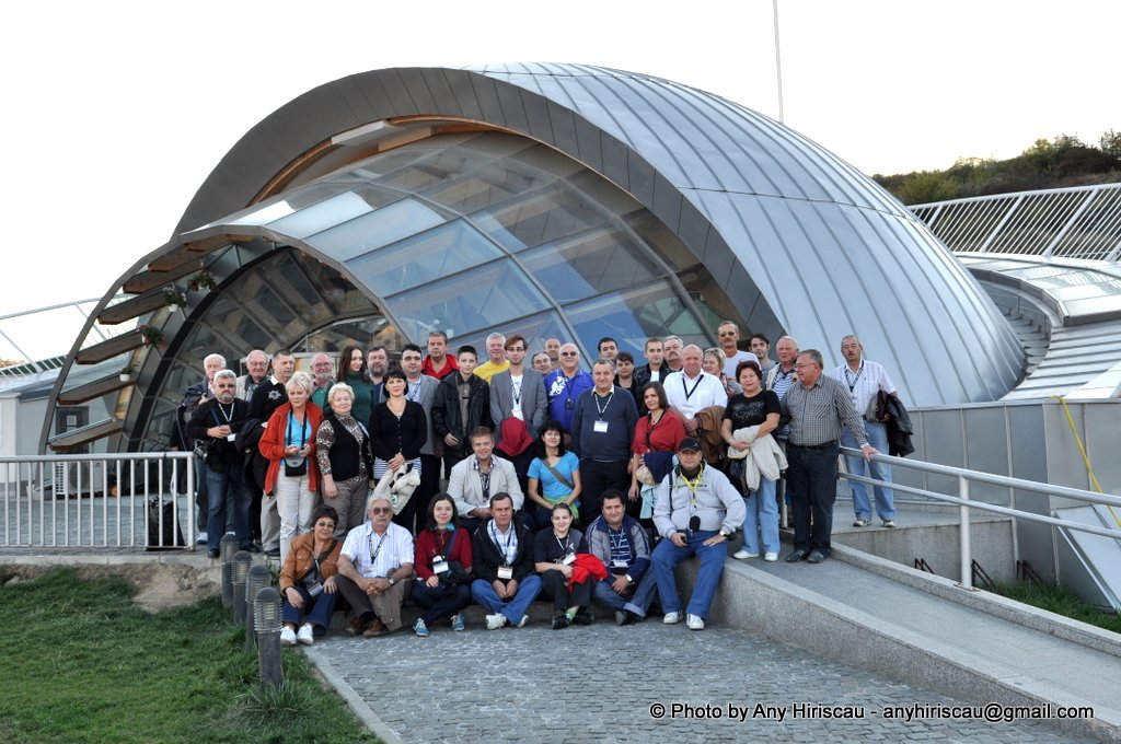 12. Participants of the XIV th ISS, 2012, at the entrance to Turda Salt Mines Complex, Romania