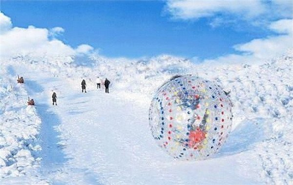 Zorbing on mountain side